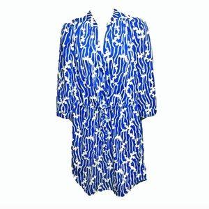 DVF Freya dress in Folio Duo Blue